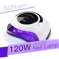 SUN BQ5T UV LED lampa do paznokci suszarka 120W Ice lampa do żel do manicure lampa do paznokci suszarka do lakieru żelowego