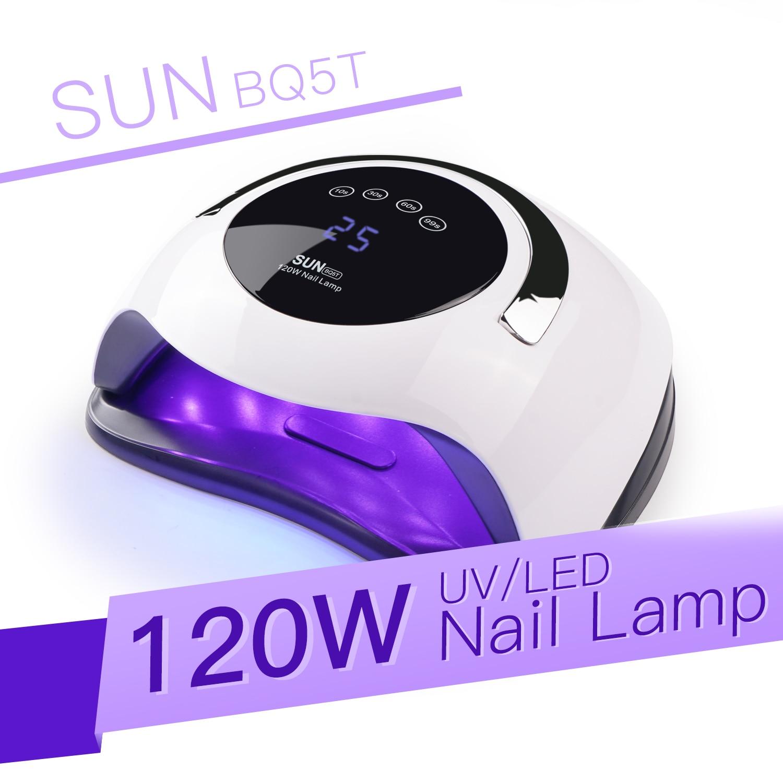 SUN BQ5T UV LED Lamp For Nails Dryer 120W Ice Lamp For Manicure Gel Nail Lamp Drying Lamp For Gel Varnish(China)