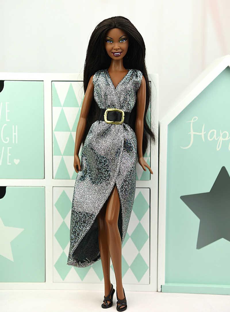 Модная Одежда для кукол; вечернее платье для куклы Барби; Одежда для кукол; Vestido; одежда для кукольного домика Барби 1/6; аксессуары для кукол BJD
