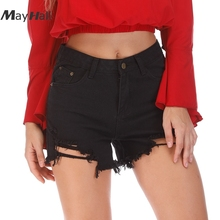 MayHall Mid Waist Shorts Jeans for Women Denim Korean Street style Womens Summer short femme ete 2018 MH277