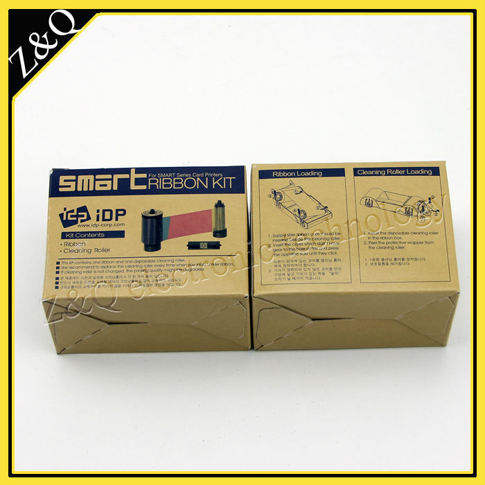 original IDP Smart 650681 SIADC-P-MS silver ribbon for the smart card printer 50D,50S,30S,50L-1200 prints idp smart 650664 siadc p r red ribbon use for smart id card printer ribbon