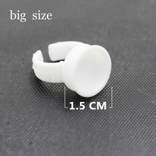 1000 Pcs Big Size Tattoo Ink Holder Rings Permanent Makeup Easy Ring Ink Container/Cups Caps Tattoo Supplies