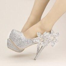 La primavera y el verano de flores de diamantes blancos con zapatos de boda zapatos de tacón alto finos zapatos de novia banquete brindis