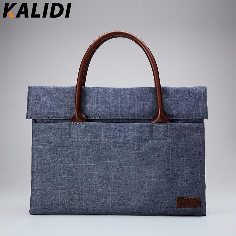 KALIDI Men Casual Business Briefcase Laptop Notebook Handbag for Macbook 11 13.3 14 inch Oxford Laptop Case Business handbag цены