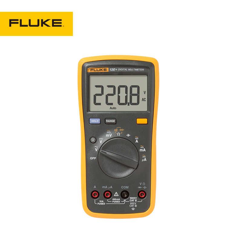 Fluke multímetro digital, gama digital automática dmm ac 15b +/17b +/18b +/12e + plus testador de voltagem em corrente/dc/diodo/r/c