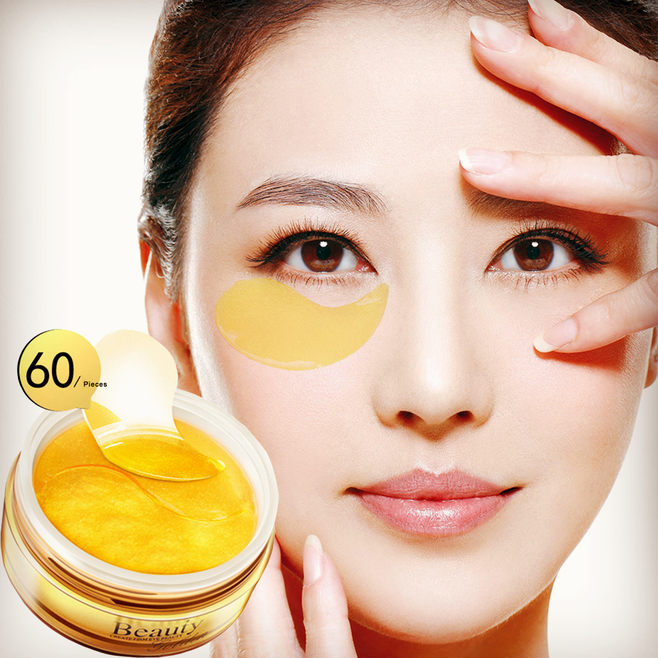 Gold Mask Eye Patch for Eye Collagen Gel Eye Mask Face Care Eye Pads Protein Ageless Skin Care Sleep Mask Dark Circles Face Mask