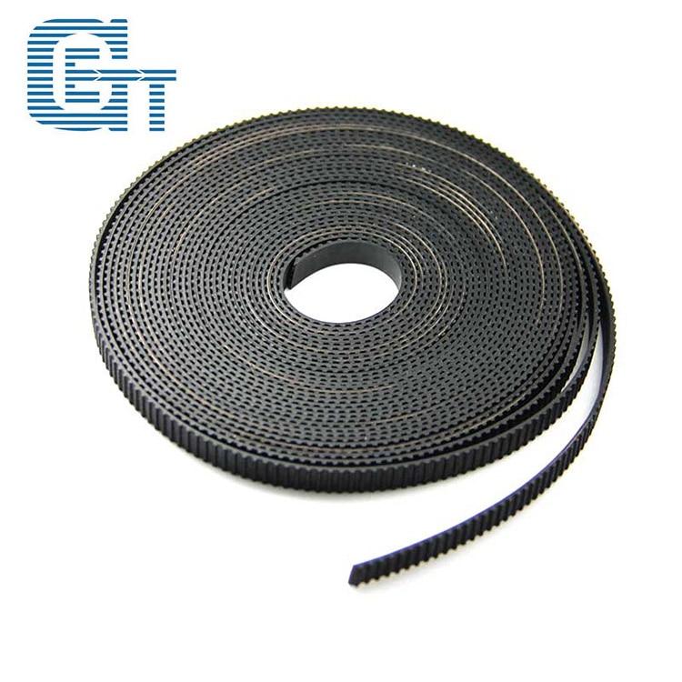 5 m/lote GT2-6mm correa de distribución abierta anchura de 6mm de correa GT2 Rubbr Fibra De Vidrio cortada a la longitud para la impresora 3D por mayor