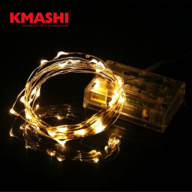 Micro Led String Lights Cool Kmashi 60pcslot Micro LED String Lights Battery Powered Starry Fairy