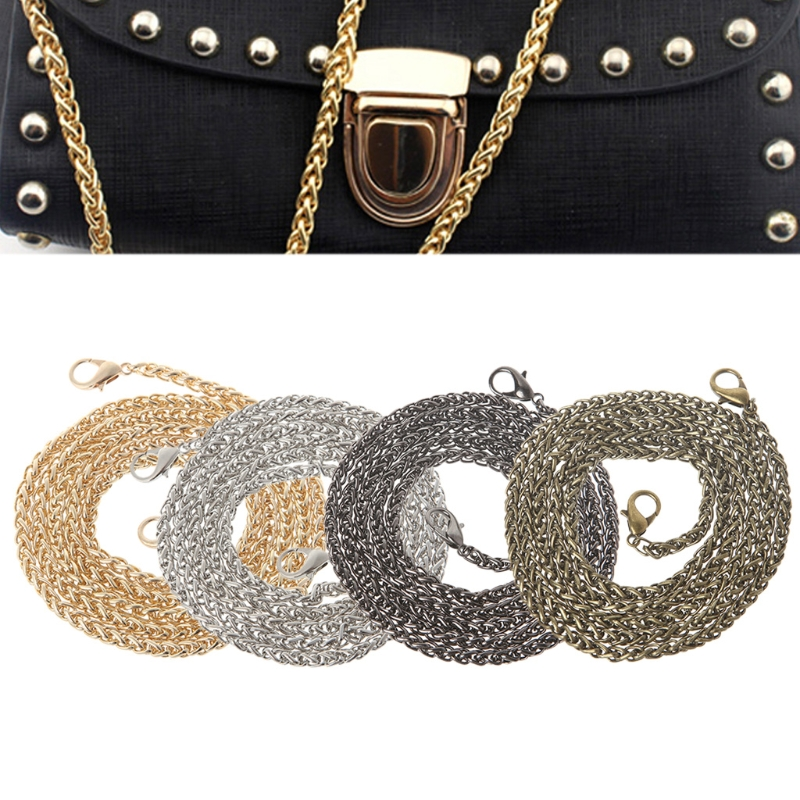 Hot New Fashion Replacement Purse Chain Strap Handle Shoulder Crossbody Handbag Bag Chain Metal 120cm 4 Colors