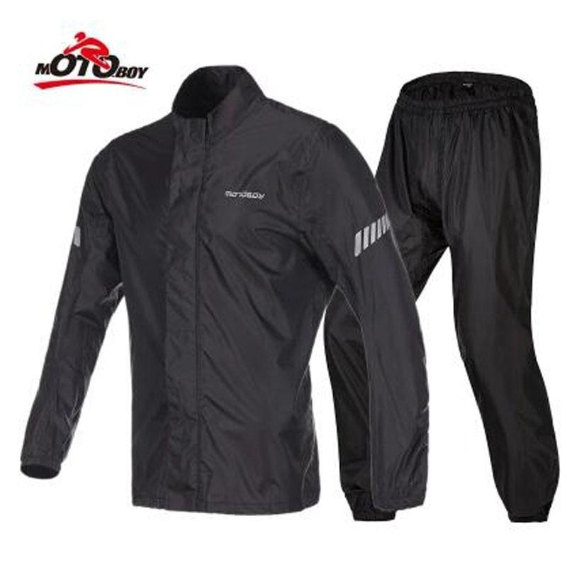 2018 New Breathable Light and Thin Motorcycle Split Raincoat women/men MOTOBOY Locomotive Moto Riding Raincoat/rain pants suit flounce hem split pants