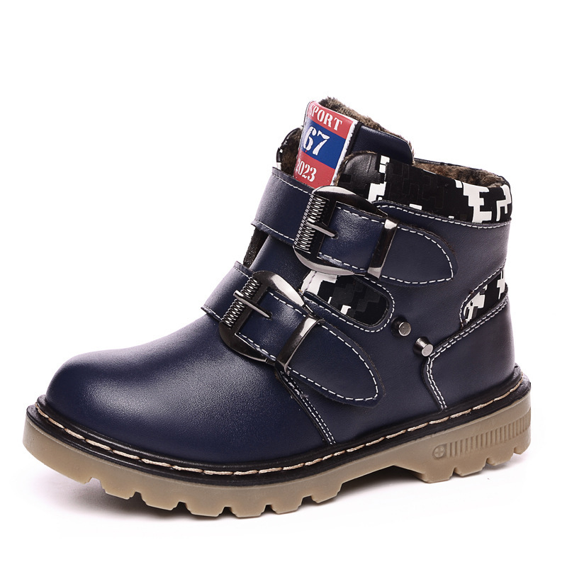 2016 Winter warm boots for boys grils snow boots children casual shoes boy martin boots kids comfort high quality cotton shoes fashion style children boots boys shoes kids martin boots good quality pu leather boys winter boots