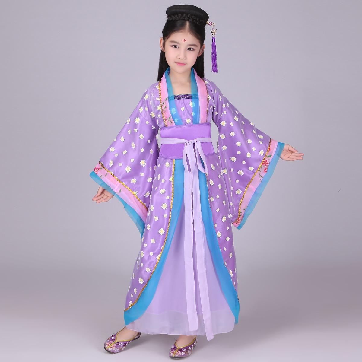 Traditionele Chinese Volksdans Dance Kostuums Meisje Kids Kinderen Oude Opera Tang-dynastie Han Ming Kind Hanfu Jurk Kleding Zo Effectief Als Een Fee Doet
