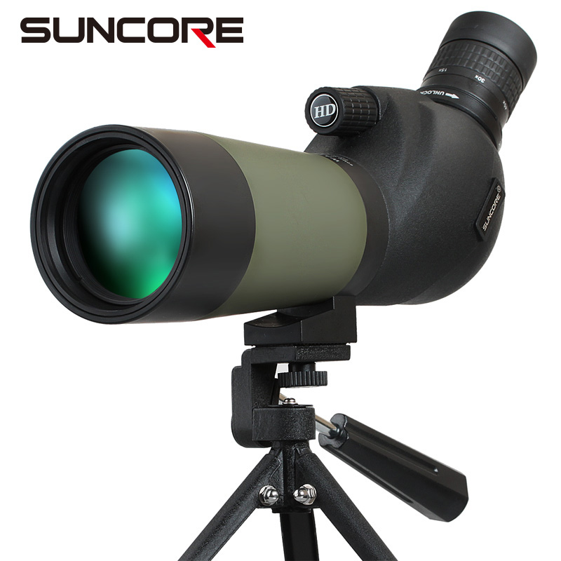 Suncore 15-45X60 monocular hunting telescope HD Holographic Spotting Scope Waterproof with Desk Tripod Professional suncore water resistant 12 x 25mm monocular telescope