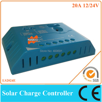 20A 12V / 24V solar controller for small solar home system, PWM charge controller with humanized design & beautiful appearance