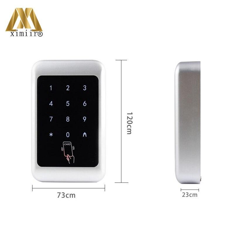Controlador de acceso único 12V DC impermeable independiente 13,56 MHz MF lector de tarjetas M07 C Control de acceso - 6