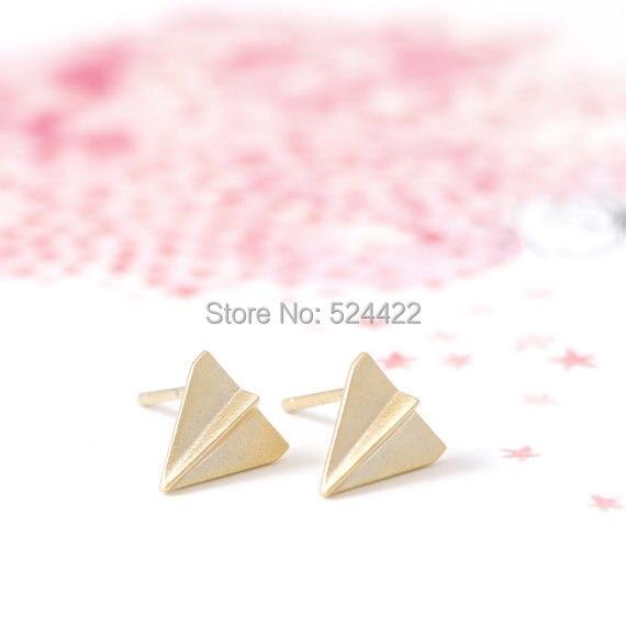 MIn 1 unid Oro/Plata/Oro Rosa de Color Mini Origami Plane Forma Pequeño Avión Ta