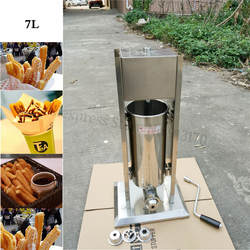 7L коммерческих нержавеющая сталь Вертикальные Колбаса писака мясо колбаса машина для розлива колбасы испанские Чуррос (печенье) машины