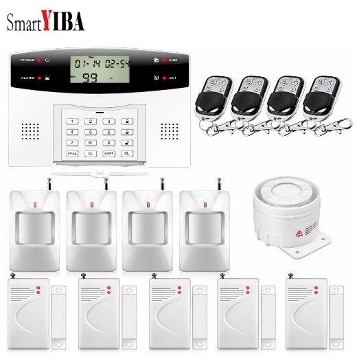 SmartYIBA Wireless Home Security GSM Burglar Alarm System Intercom Remote Control Autodial Russian Spanish French Italian Voice цена 2017