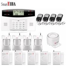 SmartYIBA Wireless Home Security GSM Burglar Alarm System Intercom Remote Control Autodial Russian Spanish French Italian Voice