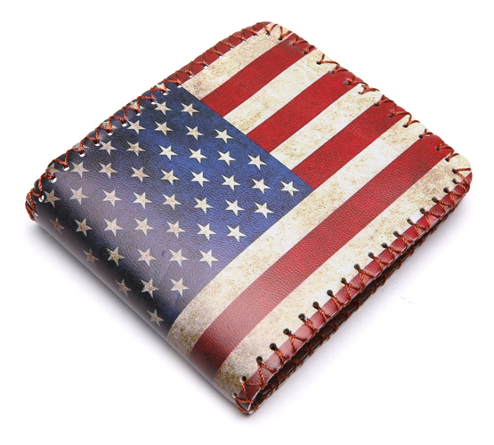 Vintage Brand UK US Flag Magic Wallet Short Purse Fold Dollar Price Money Clip Men Personalised Wallets Purse Carteira Feminina hot new 2018 anime purse wonder woman wallets hero women pu leather card money bags carteira feminina dollar price short wallet