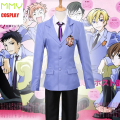 Anime Ouran High School Host Club Jacket and Tie and Pants for Cosplay Costume La Parure Fujioka Haruhi Japanese school uniforms