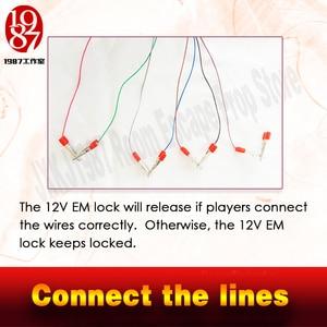 Image 3 - Jxkj accessoire pour escape game Takagism, 1987, ligne connectée pour ouvrir la porte, 8 lignes, commutation pour échapper