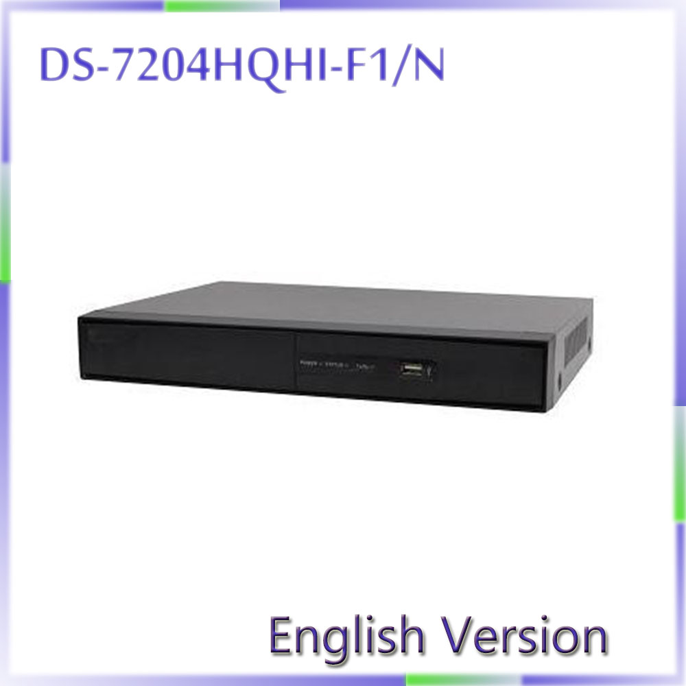 DHL free shipping In stock English Version DS-7204HQHI-F1/N Turbo HD DVR  Support  HD-TVI, AHD and analog cameras with adaptive dhl free shipping 100% original autel maxidiag elite md802 all system ds model 4 in 1 engine transmission abs airbag