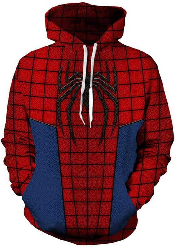spider-man 3d Men Fashion pullover hoodies Streetwear Casual Cospaly Sweatshirt Tracksuit