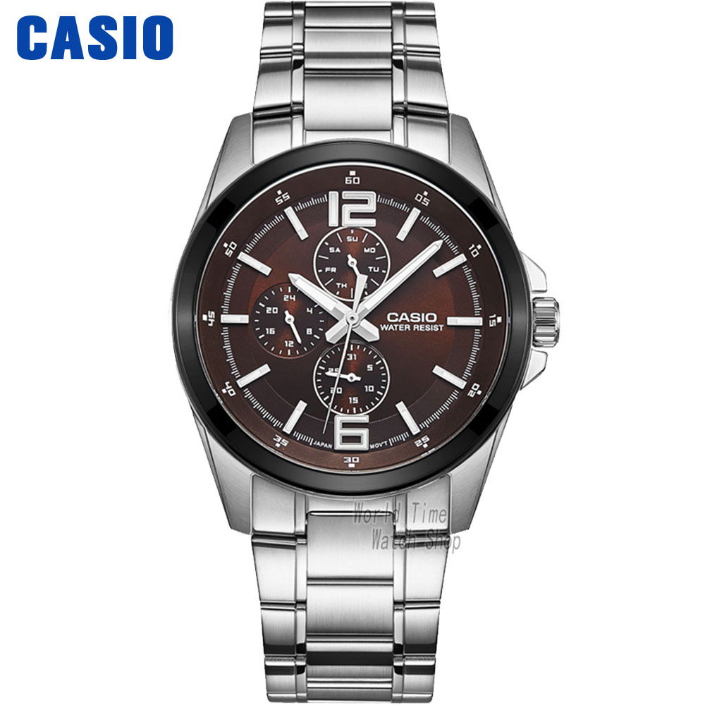 Casio watch Fashion leisure three watches quartz male watch MTP-E307D-1A MTP-E306D-5A  MTP-E308D-7A MTP-E308L-1A casio mtp tw100d 5a