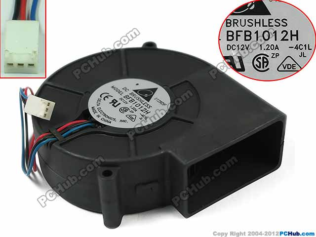 Delta Electronics BFB1012H 4C1L Server Blower Fan DC 12V 1.20A 97x97x33mm 3-wire