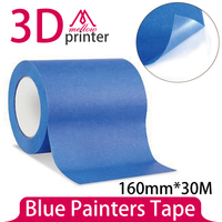 HOT 160MM X 30M Blue Painters Tape/ 3D Printer Heat Tape Resistant High Temperature Polyimide Adhesive Tape MakerBot Replicator2