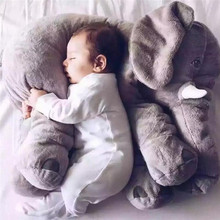 60/40/33cm Large Plush Elephant Baby Sleeping Back Cushion