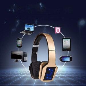 Image 5 - Bezprzewodowe słuchawki Stereo Bluetooth S650 zestaw słuchawkowy z mikrofonem Bluetooth wsparcie redukcja szumów Radio FM karty TF