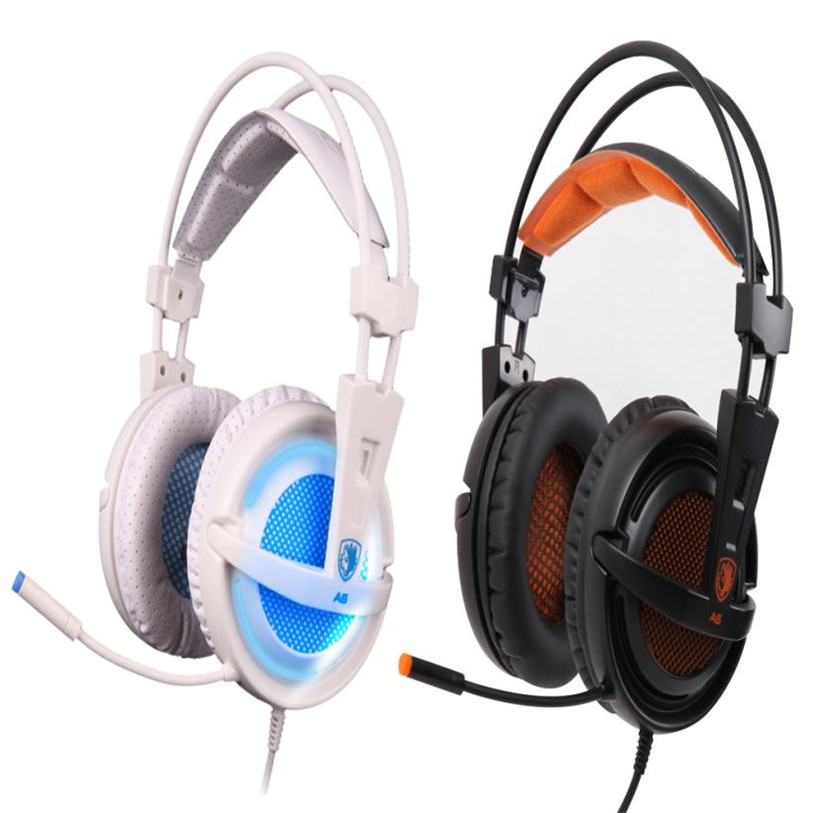 HL Sades A6 Stereo USB 7.1 Surround Pro Gaming Headphone w/Mic For PC Notebook Sept 7Levert Dropship  E22