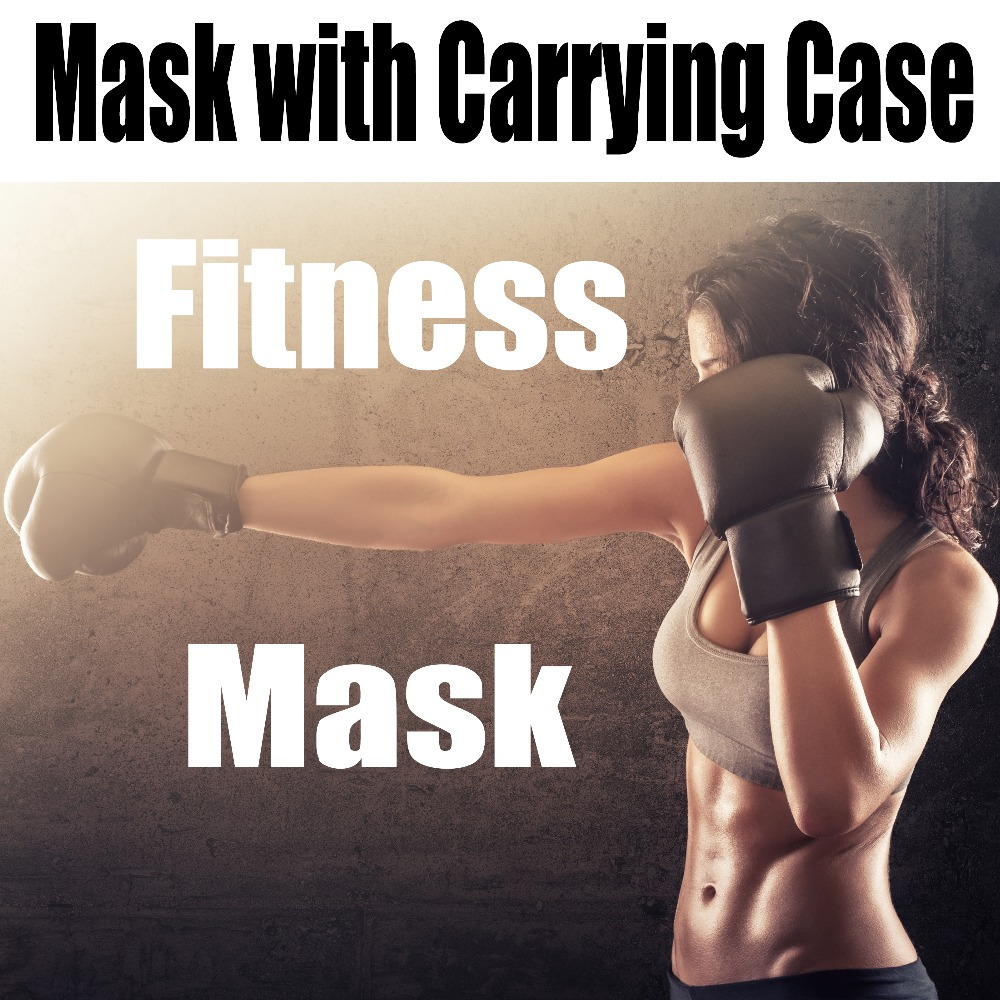 (Mask with Carrying Case ) Phantom Training Fitness Mask for MMA High Altitude Resistance Outdoor Sport Running Body Building 2016 newest elevation training mask 2 0 high altitude fitness outdoor sport 2 0 training mask	supplies equipment