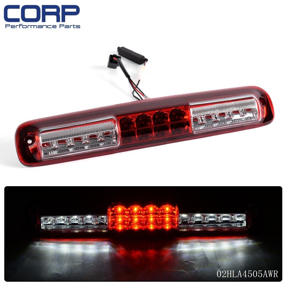 Free Shipping Car Third 3rd Brake Tail Light Lamp For Chevy Silverado 2500 HD Red Lens 99-06 for 97 98 99 nissan maxima 4 pcs tail lights red clear usa domestic free shipping