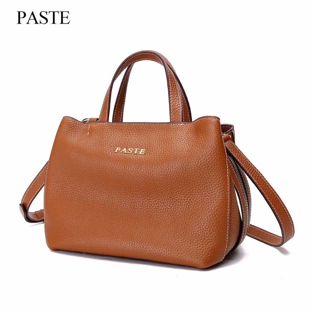 Famous Brand Women Soft Genuine Leather Handbag Female Shoulder Bag Women's Cowhide Satchels Bags Fashion Tote For Women C327 luxury genuine leather bag fashion brand designer women handbag cowhide leather shoulder composite bag casual totes
