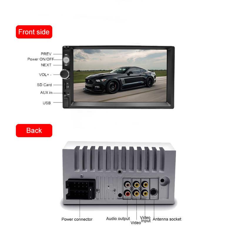 "2din радио автомобиль 7 ""HD Авторадио мультимедийный плеер 2 Din сенсорный экран Авто аудио стерео MP5 Bluetooth USB TF FM камера Android"