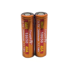 2pcs/lot TrustFire IMR 18650 3.7V 40A 3000mAh Lithium Battery Rechargeable Batteries with Safety Relief Valve for LED Flashlight 20pcs lot trustfire 21700 3 7v 40a 4000mah 14 8w lithium battery rechargeable batteries with safety relief valve for headlamp bicycle lamp