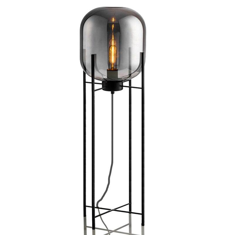 Modern home deco lighting Nordic floor lights LED living room standing fixtures Glass illumination bedroom floor