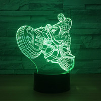 Motorcycle Desk Led Lamp Usb Remote Control Novelty Decoration Light Induction Creative Gift New And Unique 3d Night Lamp