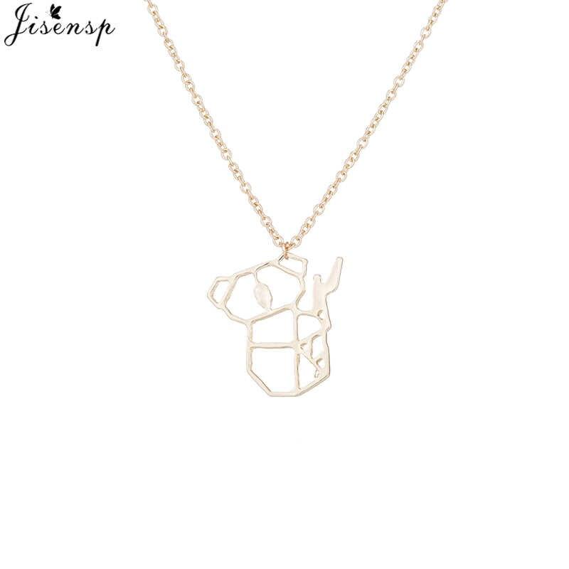 Jisensp złoty Koala naszyjnik australijski miś Koala lasów naszyjniki zwierząt wisiorki dla kobiet mężczyzn biżuteria collier femme
