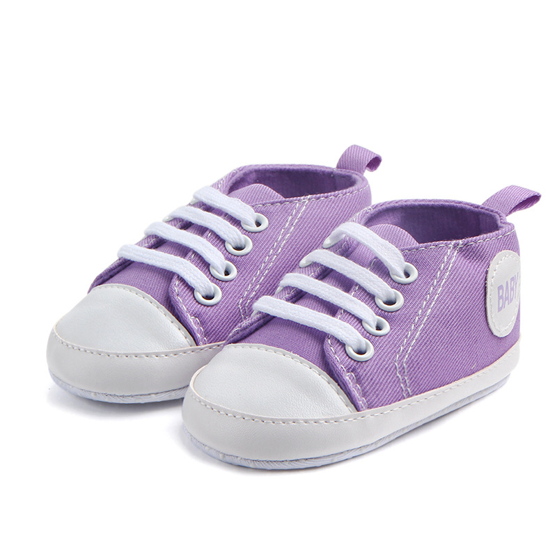 Candy Colors Baby Girls  Boys Canvas Shoes Letters Baby Printed Infant First Walkers Casual Sneakers Toddler Prewalkers | Happy Baby Mama