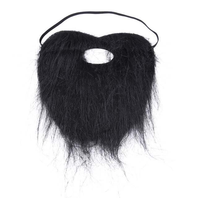 39f1d1b6a6b9 placeholder 1pc Artificial Beard Halloween Mask Fake Mustache Funny Mask  Costume Party Facial Game Black Whisker Halloween