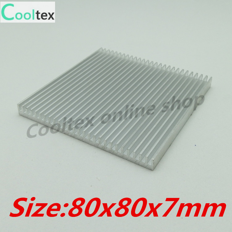 (Special offer)  80x80x7mm  Aluminum heatsink  Heat Sink radiator COOLER  fan cooling for chip  Electronic heat dissipation 20pcs lot aluminum heatsink 14 14 6mm electronic chip radiator cooler w thermal double sided adhesive tape for ic 3d printer