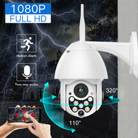 1080p ip camera Outdoor Phone Remote Wifi Security Camera Monitor Camera Full HD Dome Wifi Camera PTZ Dome videcam