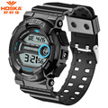 HOSKA 50M Waterproof Multifunction Digital Watch 2016 Men Military Sport Wristwatch Women casual Silicone LED Watch Relogio H015