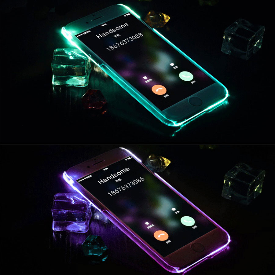 Soft TPU LED Flash Light Up Case Remind Incoming Call Cover For Samsung J5 J7 A3 A5 2016 S6 S7 Edge for iPhone 5 5S 6 6S 7 Plus 360 degrees