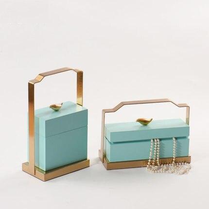 Nouveau Style chinois Simple moderne boîte de rangement décoration modèle chambre créative boîte à bijoux salon ameublement