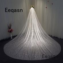 Velo de novia de 3,5 metros de largo, velo de capilla con peine, accesorios de boda